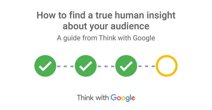 Google的分眾行銷, finding a true human insight about your audience